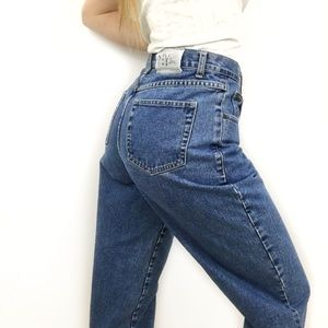 Vintage NY Jean High Waisted Button Fly Mom Jeans